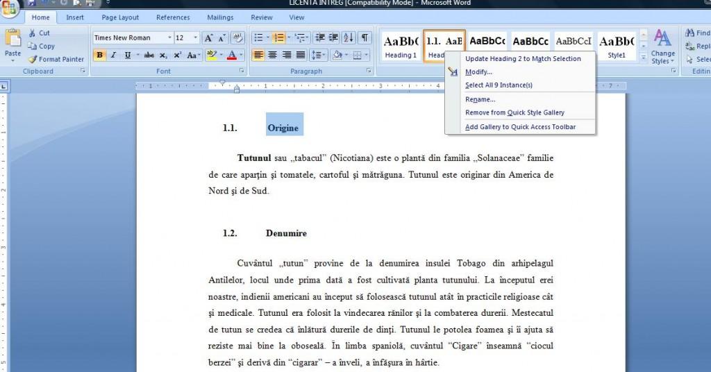 3 1024x536 Cum se genereaza automat cuprinsul in documentele Word
