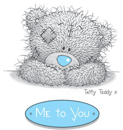 me to you teddy Ceai...cu ursuletii Tatty Teddy