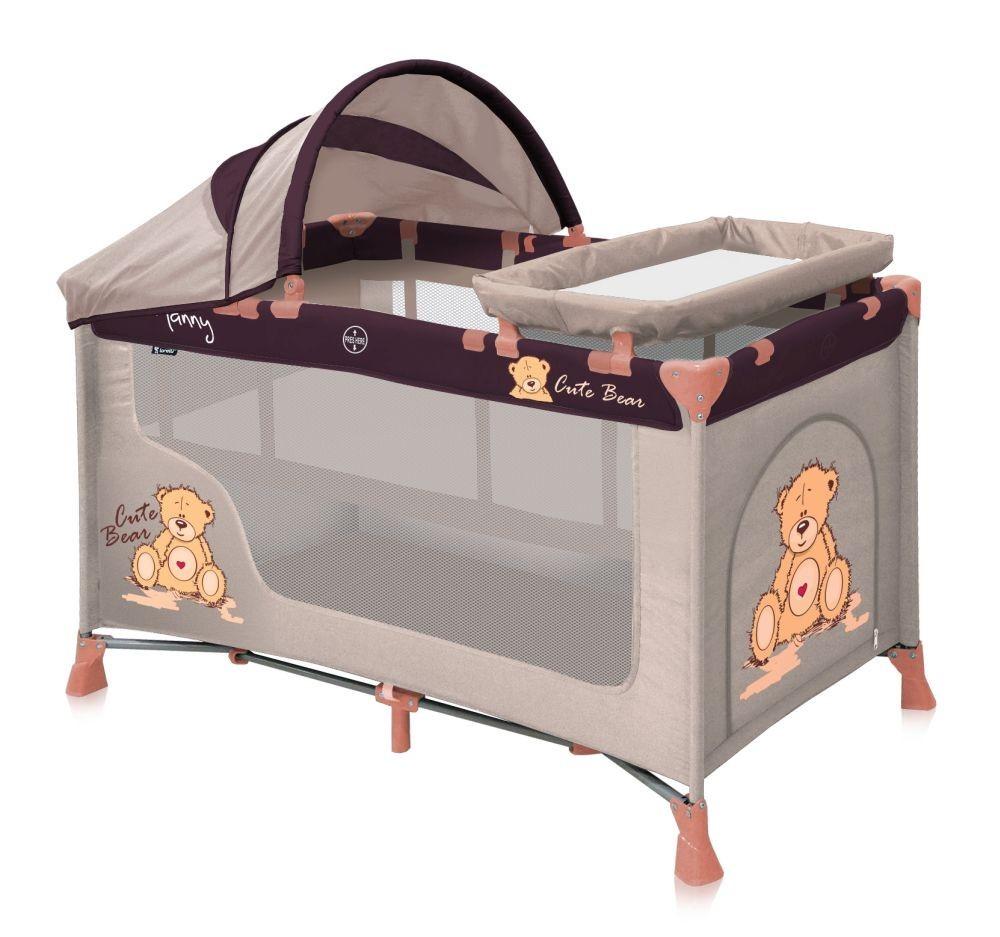 lorelli-patut-pliant-cu-capotina-si-accesorii-nanny-2-plus-beige-bear